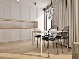 projekt wnętrz mieszkanie Kamieniec Wrocławski - Średnia otwarta szara kuchnia jednorzędowa z oknem, styl glamour - zdjęcie od archi.GO! pracownia projektowa