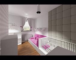 Pokój dziecięcy dla dziewczynki - Średni szary pokój dziecka dla chłopca dla dziewczynki dla niemowlaka, styl minimalistyczny - zdjęcie od MooNooDesign