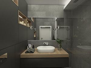 Luksusowe wnętrza - Mała czarna łazienka bez okna, styl klasyczny - zdjęcie od EMC&partners