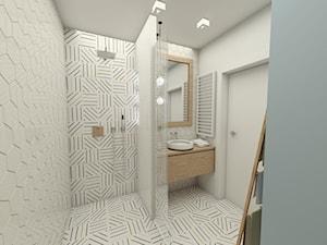 Jasne wnętrza - Mała szara łazienka w bloku w domu jednorodzinnym bez okna, styl tradycyjny - zdjęcie od EMC&partners