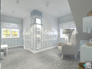 Dom w stylu nowoczesnej klasyki - Średni biały szary niebieski pokój dziecka dla chłopca dla malucha, styl klasyczny - zdjęcie od HOME & STYLE Katarzyna Rohde