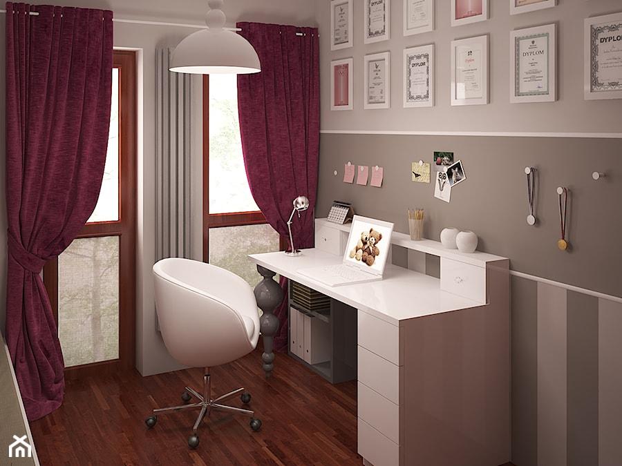 Pokój dziewczynki nieco klasycznie - Średni szary pokój dziecka dla chłopca dla dziewczynki dla ucznia dla nastolatka, styl klasyczny - zdjęcie od HOME & STYLE Katarzyna Rohde