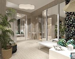 Pokój relaksu z sauną i wanną z hydromasażem w piwnicy - Łazienka - zdjęcie od HOME & STYLE Katarzyna Rohde - Homebook