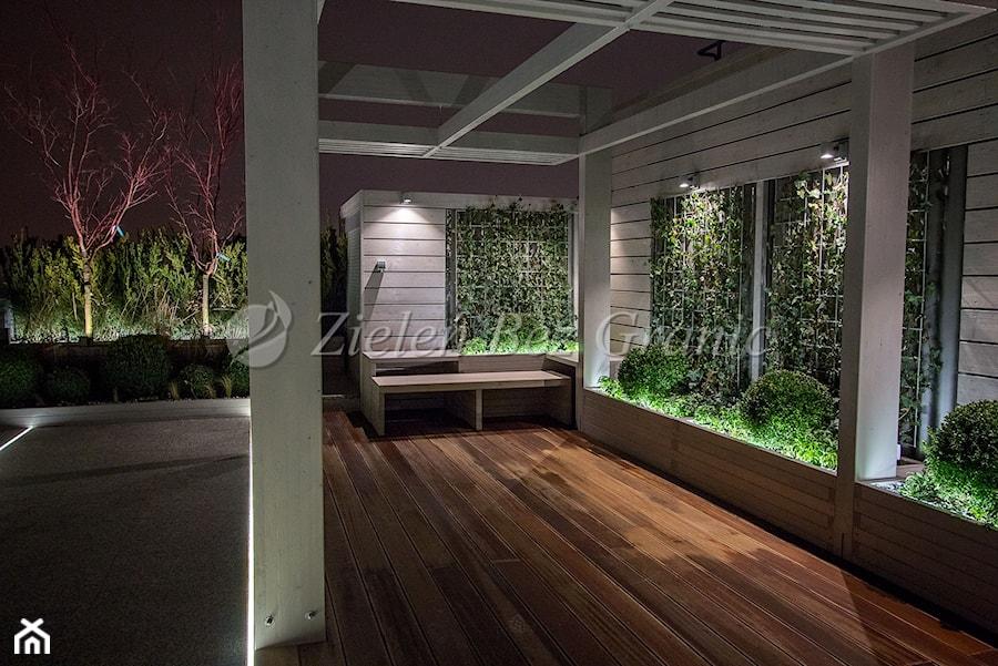 Widok na drewniany panel z pnączami - zdjęcie od Zieleń Bez Granic Hanna Irek