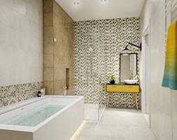 Enya - Średnia beżowa kolorowa łazienka w domu jednorodzinnym jako salon kąpielowy bez okna - zdjęcie od Ceramika Paradyż