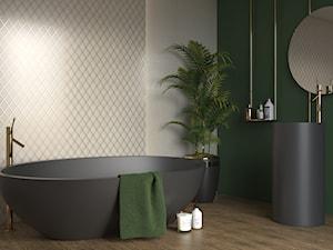 Arton - Średnia szara zielona łazienka w bloku w domu jednorodzinnym bez okna, styl eklektyczny - zdjęcie od Ceramika Paradyż