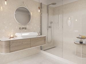 Mistysand/Mistico - Średnia łazienka w bloku w domu jednorodzinnym bez okna, styl minimalistyczny - zdjęcie od Ceramika Paradyż