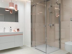 Synergy - Średnia biała szara łazienka w bloku w domu jednorodzinnym bez okna, styl eklektyczny - zdjęcie od Ceramika Paradyż