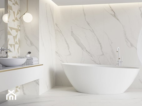 Aranżacje wnętrz - Łazienka: Calacatta - Mała szara łazienka w bloku w domu jednorodzinnym bez okna, styl minimalistyczny - Ceramika Paradyż. Przeglądaj, dodawaj i zapisuj najlepsze zdjęcia, pomysły i inspiracje designerskie. W bazie mamy już prawie milion fotografii!