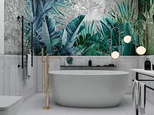 #AKCJAINSPIRACJA - Średnia biała łazienka w bloku w domu jednorodzinnym bez okna, styl eklektyczny - zdjęcie od Ceramika Paradyż