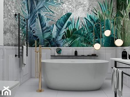 Aranżacje wnętrz - Łazienka: #AKCJAINSPIRACJA - Średnia biała łazienka w bloku w domu jednorodzinnym bez okna, styl eklektyczny - Ceramika Paradyż. Przeglądaj, dodawaj i zapisuj najlepsze zdjęcia, pomysły i inspiracje designerskie. W bazie mamy już prawie milion fotografii!