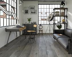 Tammi - Średnie białe biuro domowe kącik do pracy w pokoju, styl industrialny - zdjęcie od Ceramika Paradyż