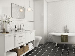 Moonlight - Duża biała łazienka w bloku w domu jednorodzinnym bez okna, styl eklektyczny - zdjęcie od Ceramika Paradyż