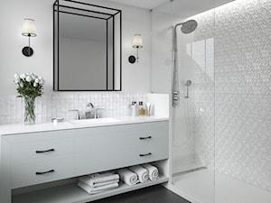 Tel Awiv - Średnia biała łazienka, styl nowojorski - zdjęcie od Ceramika Paradyż