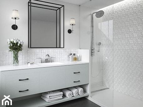 Aranżacje wnętrz - Łazienka: Tel Awiv - Średnia biała łazienka, styl nowojorski - Ceramika Paradyż. Przeglądaj, dodawaj i zapisuj najlepsze zdjęcia, pomysły i inspiracje designerskie. W bazie mamy już prawie milion fotografii!