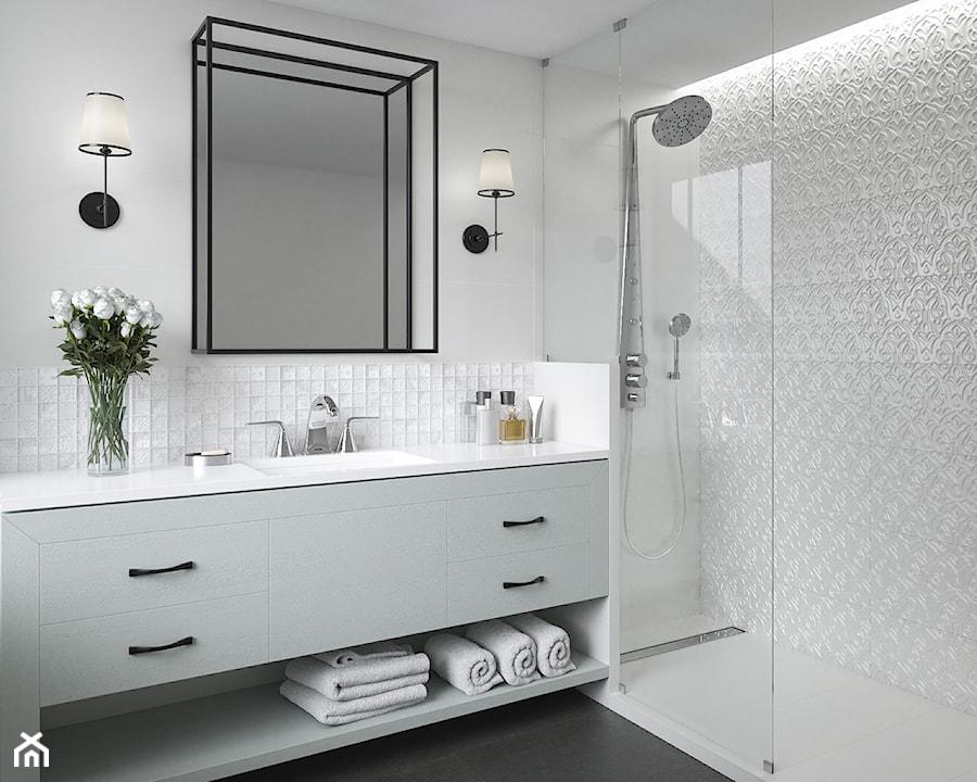 Tel Awiv średnia Biała łazienka Styl Nowojorski Zdjęcie
