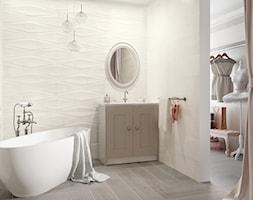 Pandora - Mała szara łazienka w bloku w domu jednorodzinnym bez okna, styl rustykalny - zdjęcie od Ceramika Paradyż