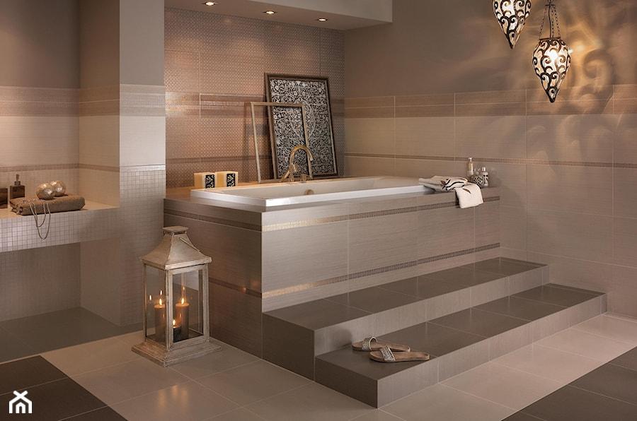 meisha-garam - Duża łazienka jako salon kąpielowy jako domowe spa, styl eklektyczny - zdjęcie od Ceramika Paradyż