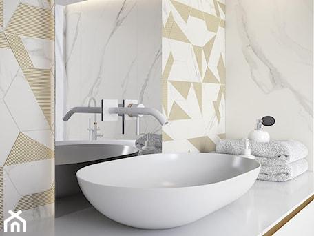 Aranżacje wnętrz - Łazienka: Calacatta - Średnia łazienka w bloku w domu jednorodzinnym bez okna - Ceramika Paradyż. Przeglądaj, dodawaj i zapisuj najlepsze zdjęcia, pomysły i inspiracje designerskie. W bazie mamy już prawie milion fotografii!