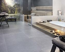 Optimal - Duża beżowa szara kolorowa łazienka jako salon kąpielowy bez okna, styl skandynawski - zdjęcie od Ceramika Paradyż