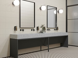 Modernizm - Duża biała łazienka w bloku w domu jednorodzinnym bez okna, styl minimalistyczny - zdjęcie od Ceramika Paradyż