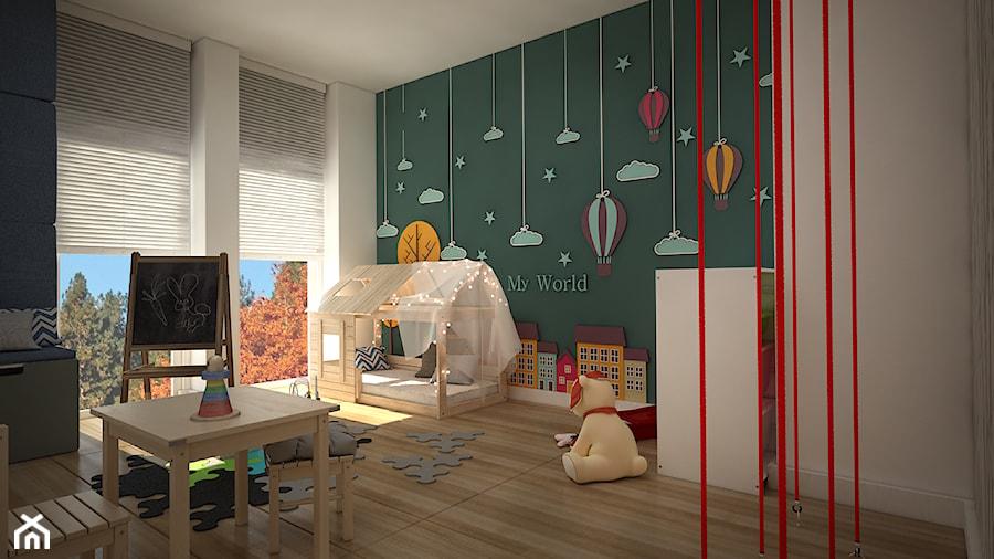 Aranżacje wnętrz - Pokój dziecka: pokój zabaw - Średni biały zielony pokój dziecka dla chłopca dla malucha, styl skandynawski - WNĘTRZOMANIA. Przeglądaj, dodawaj i zapisuj najlepsze zdjęcia, pomysły i inspiracje designerskie. W bazie mamy już prawie milion fotografii!