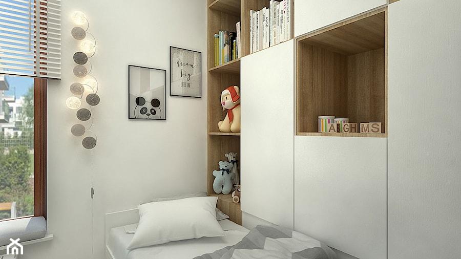 SŁOWIAŃSKI AKCENT - Mały szary pokój dziecka dla chłopca dla dziewczynki dla malucha dla nastolatka, styl nowoczesny - zdjęcie od WNĘTRZOMANIA