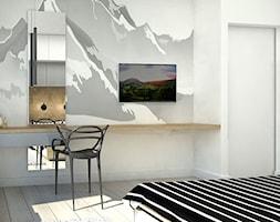 SŁOWIAŃSKI AKCENT - Średnia kolorowa sypialnia dla gości, styl skandynawski - zdjęcie od WNĘTRZOMANIA