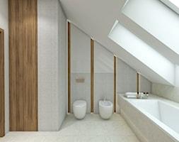 USTANÓW - Duża łazienka na poddaszu w domu jednorodzinnym z oknem, styl nowoczesny - zdjęcie od TutajConcept
