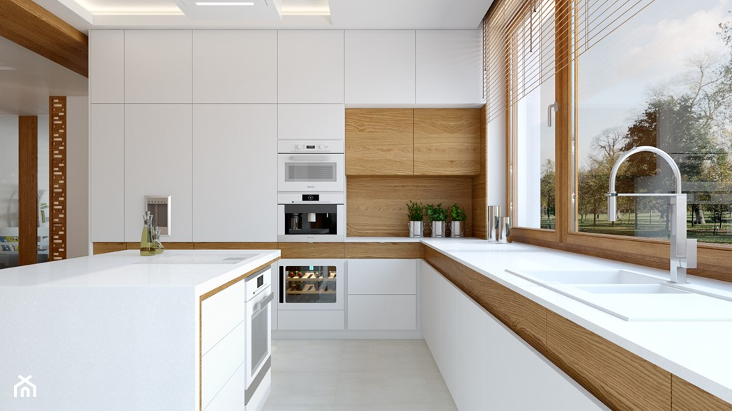 Jaki blat do białej kuchni? 7 sprawdzonych pomysłów   -> Nowoczesne Kuchnie Z Wyspą Aranżacje
