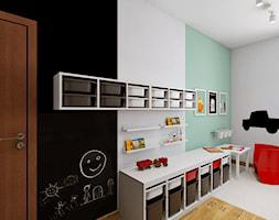 POKÓJ DLA CHŁOPCA - Średni biały pastelowy miętowy czarny pokój dziecka dla chłopca dla malucha, styl nowoczesny - zdjęcie od TutajConcept