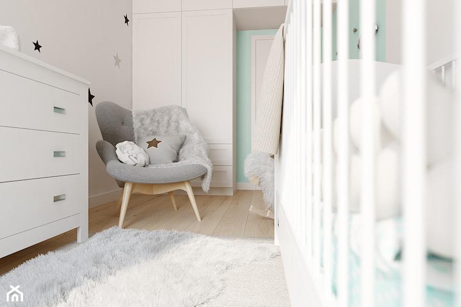 Z nutą glamour - Średni szary pokój dziecka dla chłopca dla dziewczynki dla niemowlaka, styl skandynawski - zdjęcie od TutajConcept