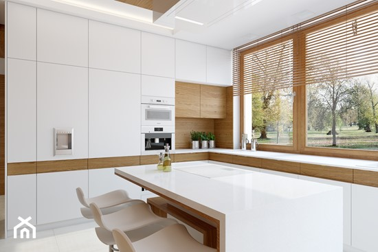 biała kuchnia z drewnem  Ideabook użytkownika Zu Za 2   -> Kuchnia Nowoczesna Z Drewnem