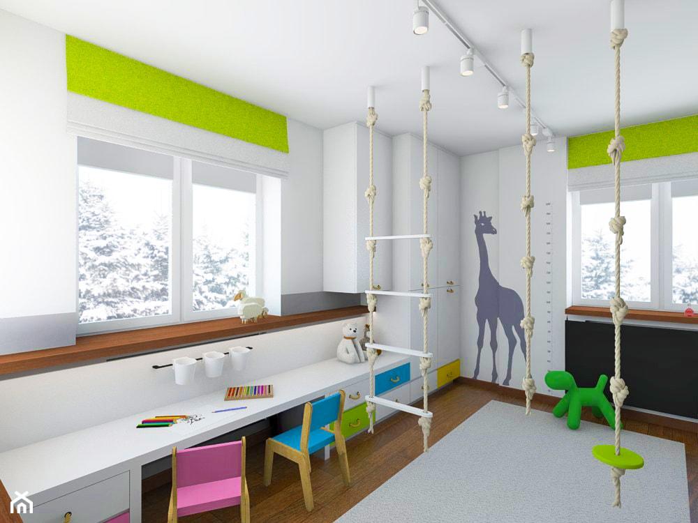 POKÓJ DLA RODZEŃSTWA - Średni biały pokój dziecka dla chłopca dla malucha, styl nowoczesny - zdjęcie od TutajConcept - Homebook