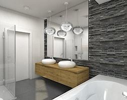 Zalesie Dolne I - Duża szara łazienka, styl nowoczesny - zdjęcie od TutajConcept