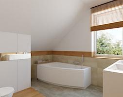łazienka Na Poddaszu Z Wanną Narożną Projekty I Wystrój