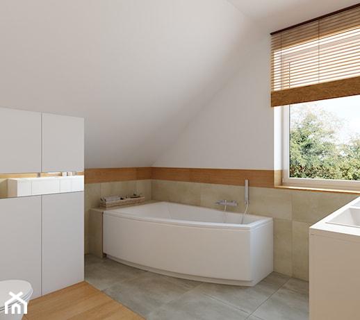 łazienka Na Poddaszu Z Wanną Narożną Pomysły Inspiracje Z Homebook