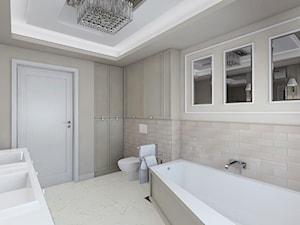 Opaczewska - Duża beżowa łazienka w bloku w domu jednorodzinnym bez okna, styl klasyczny - zdjęcie od TutajConcept