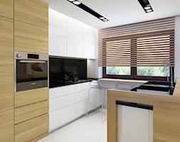 Storczykowa - Średnia otwarta biała kuchnia w kształcie litery u, styl nowoczesny - zdjęcie od TutajConcept - Homebook