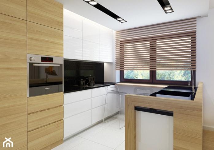 Storczykowa  Średnia otwarta kuchnia w kształcie litery u   -> Kuchnia Rogowa Meble