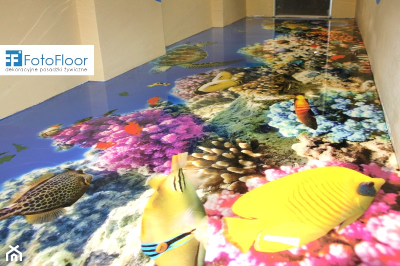 pod�oga 3d w przedszkolu rafa koralowa zdjęcie od