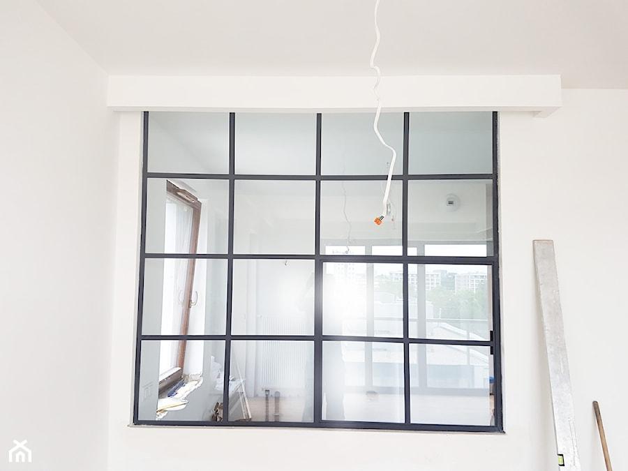 Okno Loftowe Dzielące Kuchnia Salon Zdjęcie Od Gdel Homebook