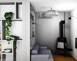 Bliźniak Łódź - Mały biały salon, styl skandynawski - zdjęcie od Projektownia Marzena Dąbrowska
