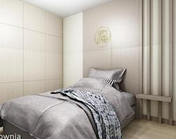 apartament Barciński Park 2 - Mała biała sypialnia, styl nowoczesny - zdjęcie od Projektownia Marzena Dąbrowska