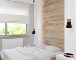 Apartament na Rudzkiej - Mała średnia sypialnia małżeńska, styl skandynawski - zdjęcie od Design Factory Studio Projektowe - Homebook