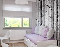 Apartament na Rudzkiej - Małe szare biuro domowe w pokoju, styl skandynawski - zdjęcie od Design Factory Studio Projektowe