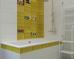 Dom jednorodzinny na obrzeżach Łodzi - Mała łazienka w bloku w domu jednorodzinnym bez okna, styl nowoczesny - zdjęcie od Design Factory Studio Projektowe