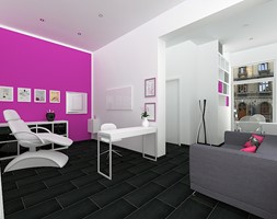 Wizualizacja Salonu Kosmetycznego Projekt Design Factory Studio