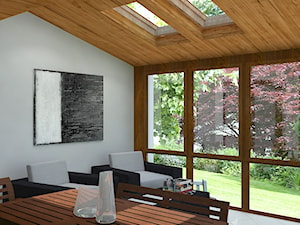 Ogród zimowy - Średni taras z tyłu domu, styl klasyczny - zdjęcie od Design Factory Studio Projektowe