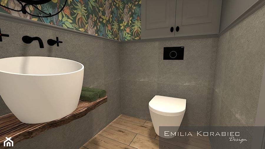 Aranżacje wnętrz - Łazienka: ŁAZIENKI - Mała szara łazienka w bloku w domu jednorodzinnym bez okna, styl vintage - Emilia Korabiec Design. Przeglądaj, dodawaj i zapisuj najlepsze zdjęcia, pomysły i inspiracje designerskie. W bazie mamy już prawie milion fotografii!
